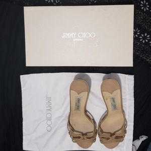 "Jimmy Choo London Nude Ivana Pat 3"" Heels Shoes"